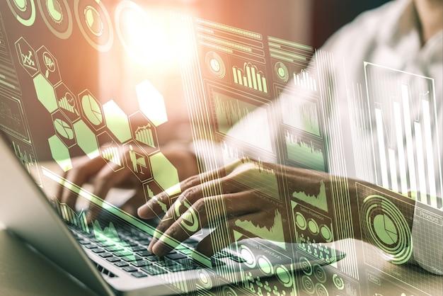 Gegevensanalyse voor business en finance concept