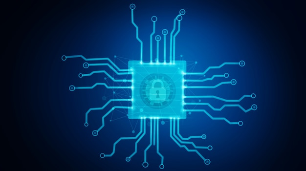 Gegevensbescherming en cyberveiligheidsconcept