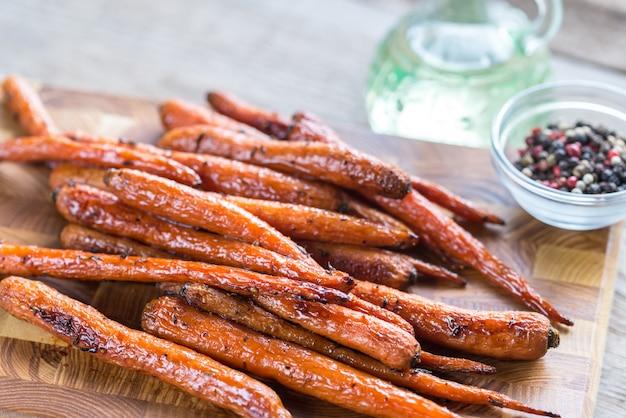 Geglazuurde wortels