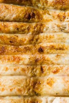 Gegrild vlees van kip close-up