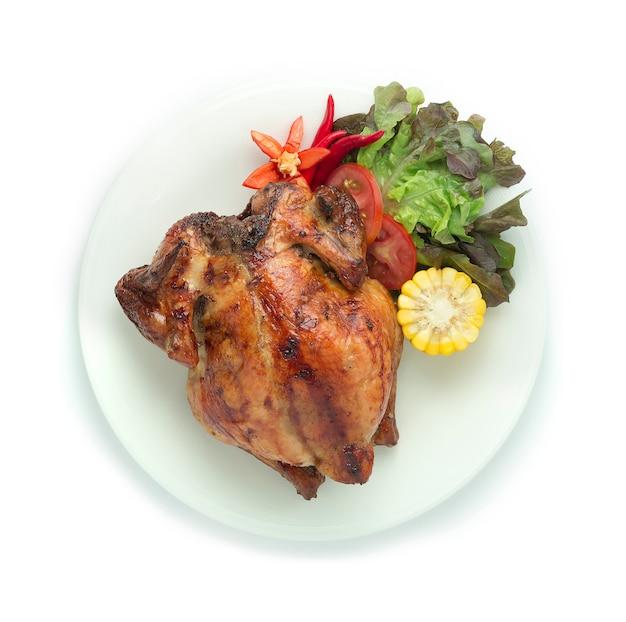 Gegrilde kip origineel recept thais eten aziatische stijl
