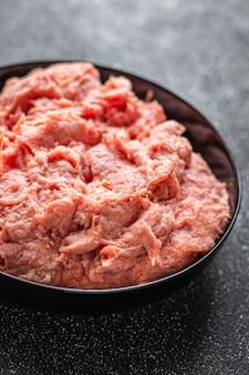 Gehakt kalkoen of kip vermalen gezonde dieetmaaltijd