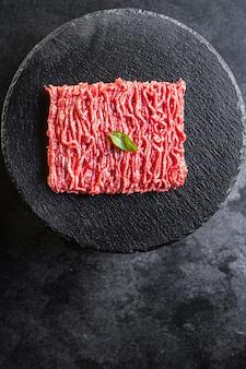 Gehakt rauw vleesmolen ingrediënt varkensvlees of rundvlees