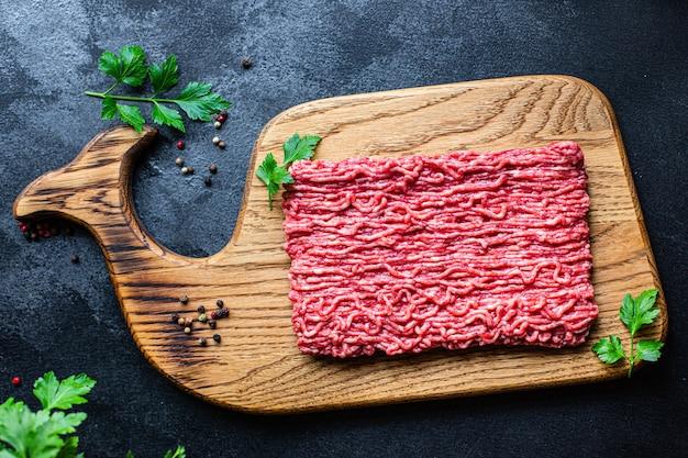 Gehakt versgemalen varkensvlees of rundvlees, kip of kalkoenmix ingrediënt