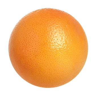 Gehele geïsoleerde grapefruitsinaasappel