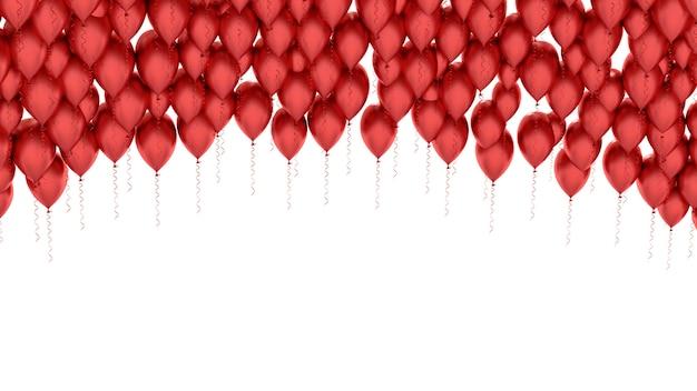Geïsoleerd beeld van een rode ballon over wit