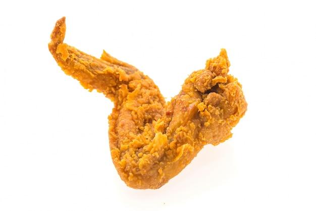 Geïsoleerd gefrituurde kip