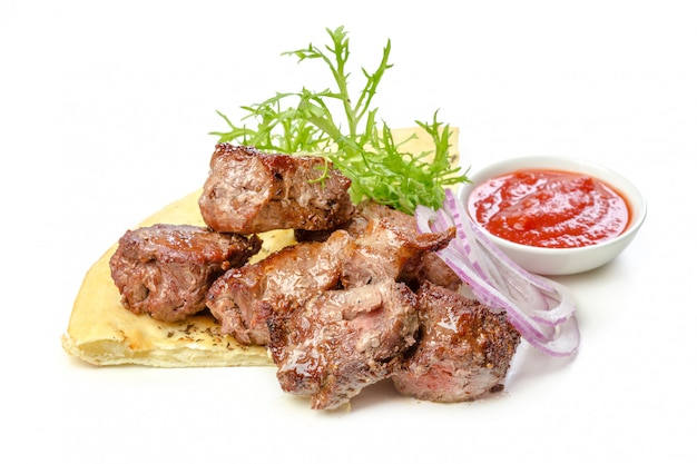 Geïsoleerd geroosterd vlees
