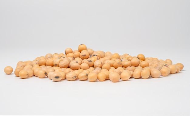 Geïsoleerd van sojabonen op wit