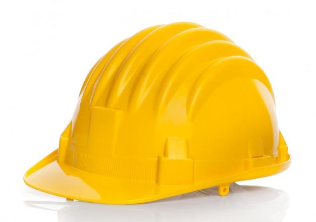 Geïsoleerde gele helm