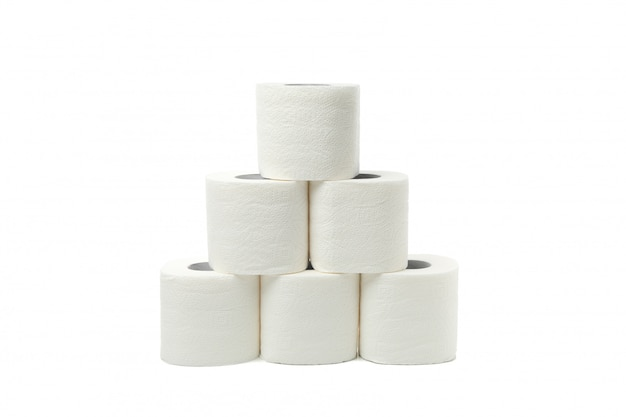 Geïsoleerde groep toiletpapier