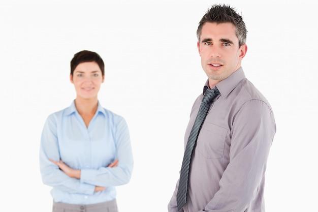 Geïsoleerde managers poseren