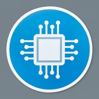Geïsoleerde moederbord pictogram illustratie