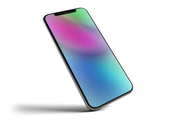 Geïsoleerde smartphone - het 3d teruggeven