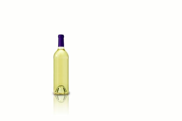 Geïsoleerde verschillende wijnfles op witte achtergrond, geschikt voor uw ontwerp element.3d-rendering.