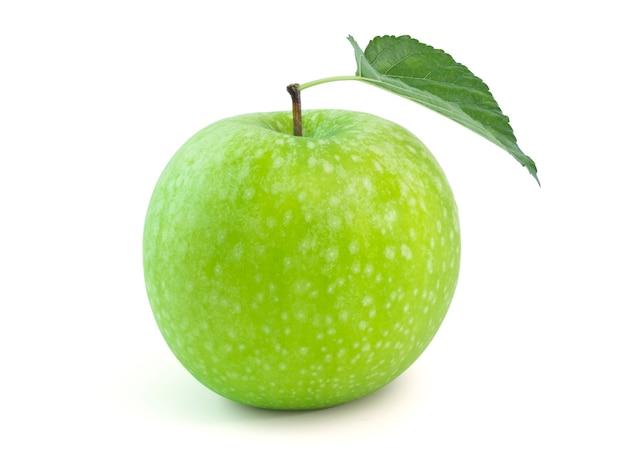 Geïsoleerde verse groene appel