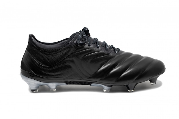 Geïsoleerde voetbal hengst schoenen op witte achtergrond