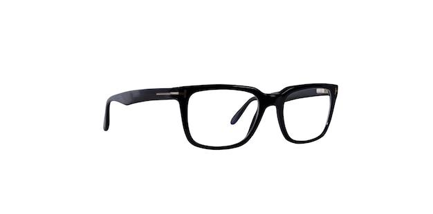 Geïsoleerde zwarte bril die gezichtsproblemen correct afstelt