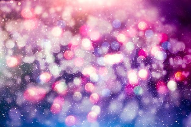 Gekleurd abstract wazig licht glitter achtergrondlay-outontwerp kan worden gebruikt voor achtergrondconcept of festivalachtergrond