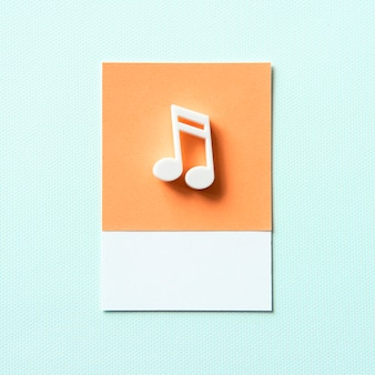 Gekleurd muzieknoot audiosymbool