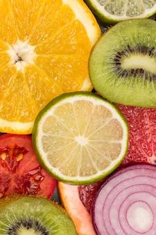 Gekleurde abstracte fruitplakken