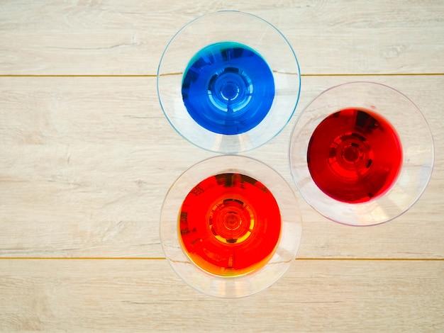 Gekleurde cocktails, martini's