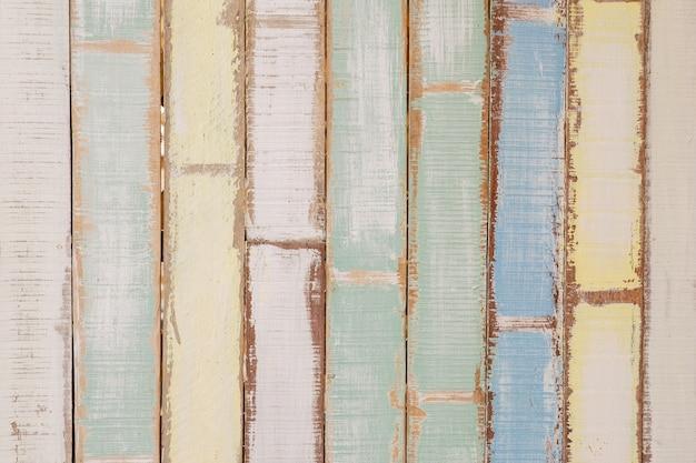 Gekleurde houten planken