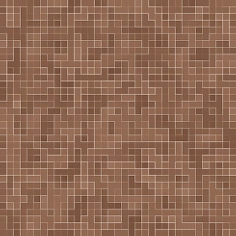 Gekleurde keramische stenen. abstracte gladde bruine mosiac textuur abstracte keramische mozaïek versierd gebouw. abstracte naadloze patroon.