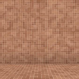 Gekleurde keramische stenen abstracte gladde bruine mosiac textuur abstracte keramische mozaïek versierd gebouw... Gratis Foto