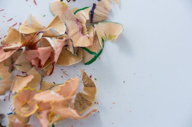 Gekleurde potloden krullen
