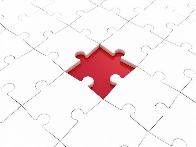 Gekleurde puzzel op wit. 3d illustratie