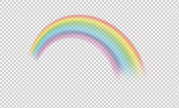 Gekleurde regenboog fantasie symbool geïsoleerd