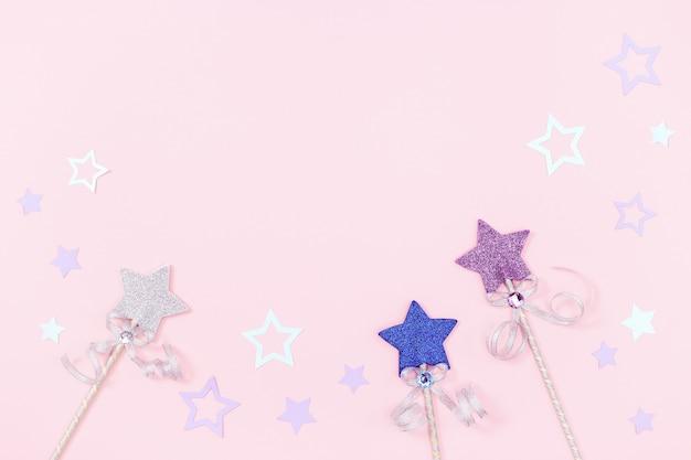 Gekleurde sterren en toverstaf