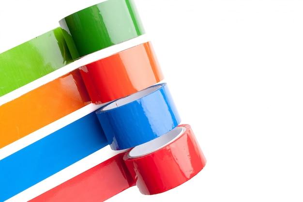 Gekleurde tape in grote rollen