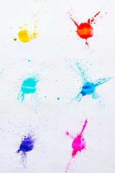 Gekleurde vlekken van waterverf