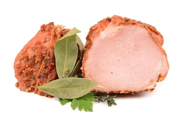Gekookt varkensvlees met kruiden