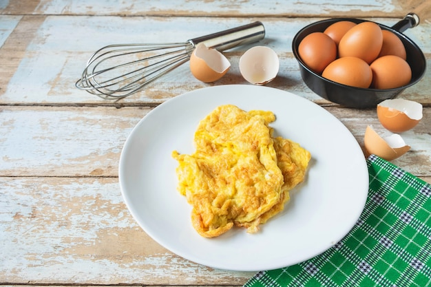 Gekookte omelet menu