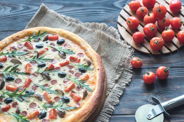 Gekookte pizza