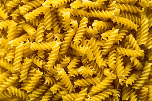 Gekrulde pasta achtergrond