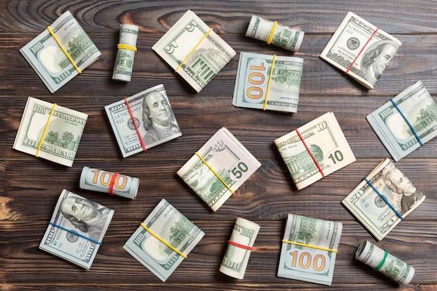 Geld amerikaanse honderd dollarbiljetten