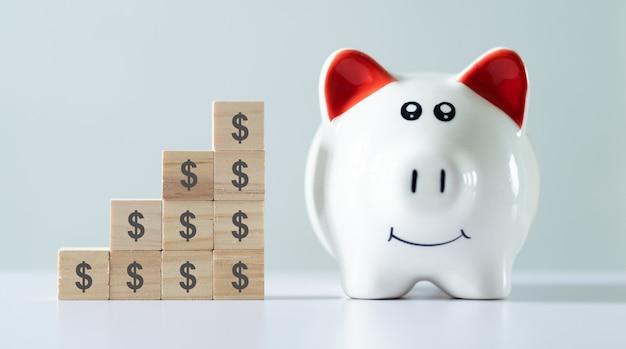 Geld besparen concept, financieel beheer