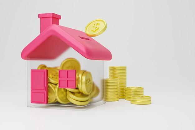 Geld besparen om huis te kopen.