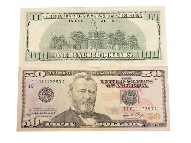 Geld dollars geïsoleerd