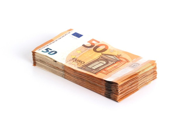 Geld eurocontanten bankbiljetten 50 eurobiljetten.