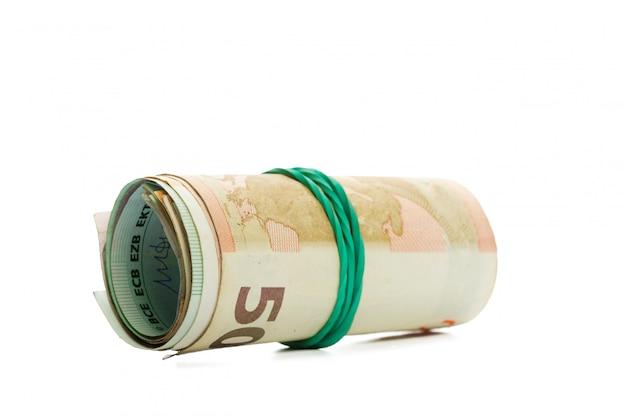 Geld geïsoleerd op wit