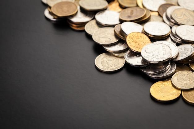Geld. geld dichtbij. russisch geld - roebels