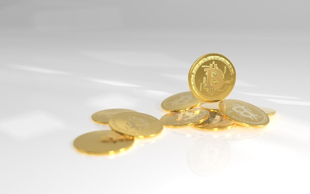 Geld op achtergrond links euro dollar bitcoin