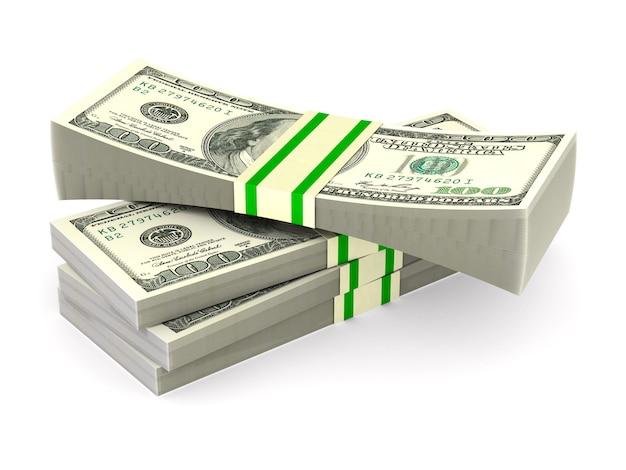 Geld op witte ruimte