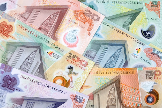 Geld van papoea-nieuw-guinea een zakelijke achtergrond