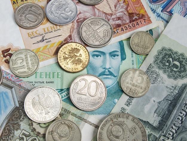 Geld van verschillende landen van de wereld